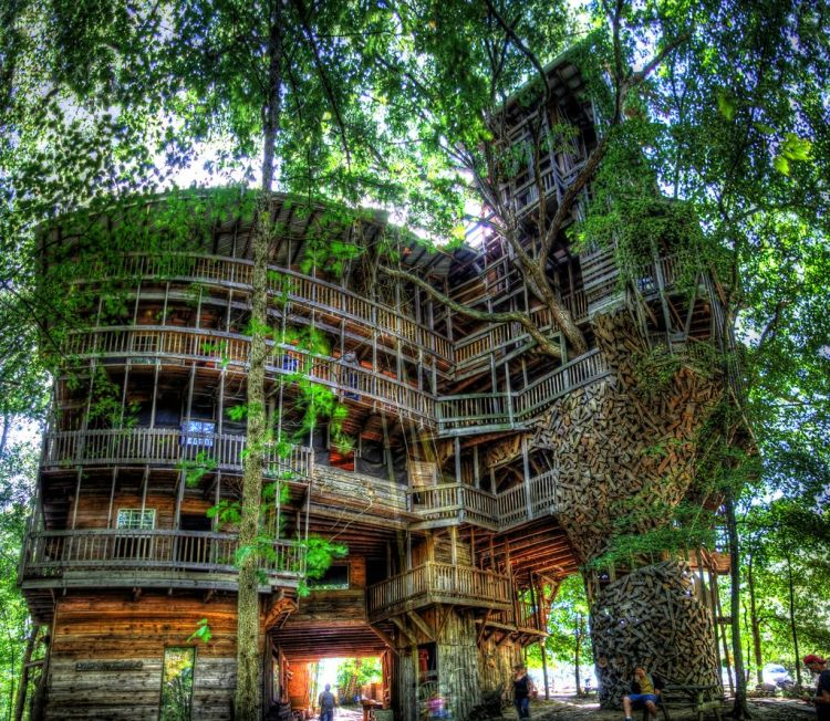 The Cedar Creek Treehouse in Washington (the worlds largest treehouse)  (amazingstuff.com)